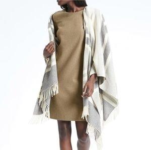 Banana Republic Camel Wool Shift Dress